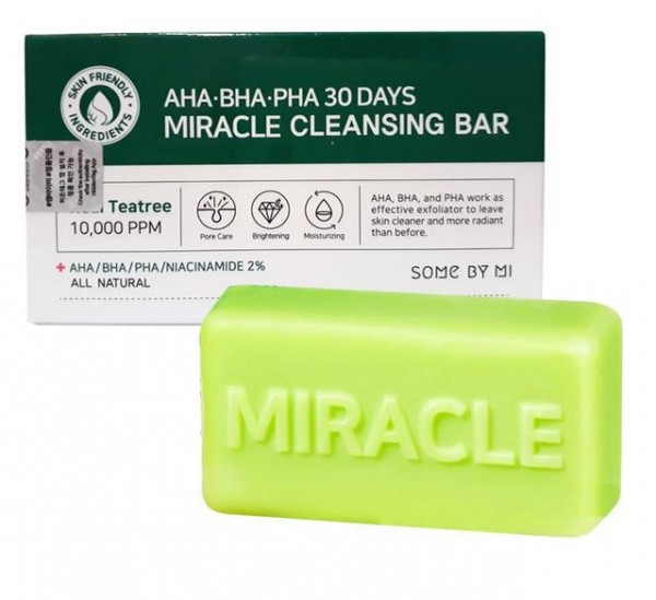 SOMEBYMI AHA BHA Miracle Acne Cleasing Bar